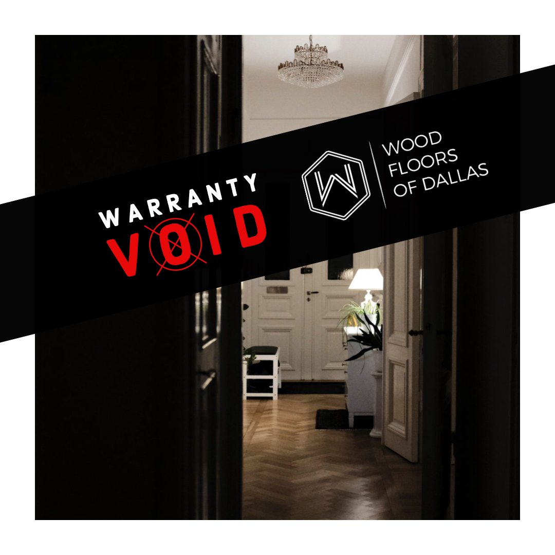 Don't Void the Finish Warranty!